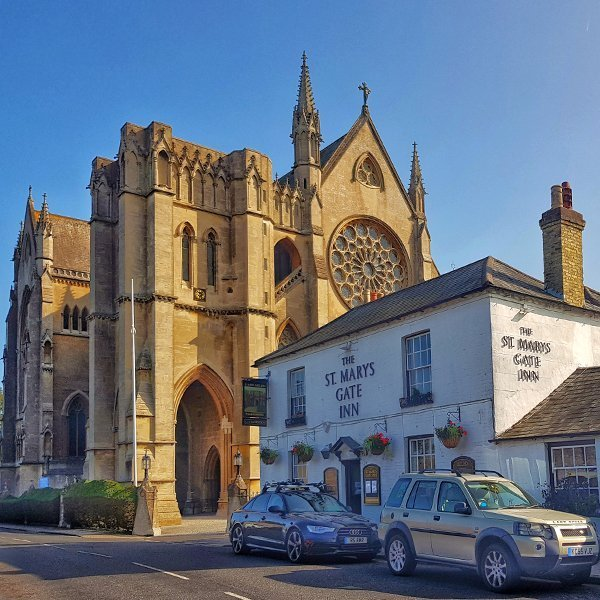Arundel Cathedral and St Mary's Gate